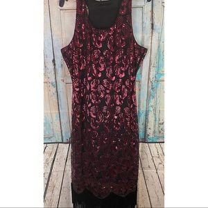 Gorgeous Fully Sequined Fringe Bottom Maxi Dress